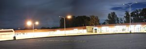 2am, parking lot panorama by xxdigipxx