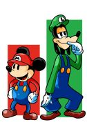 Super Mickey Brothers by PunkMetalhead