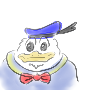 donald duck by VonHartherzig