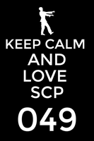 Keep Calm ad love your plague doctor by Fnaf111