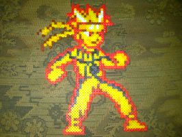 Naruto Kyubi Chakra Mode Bead Sprite by LingeringSentiments