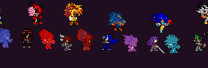 Nine Tailed Beast Sprites by SuperSonic124TH