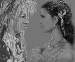 Sarah and Jareth by Zhepgig