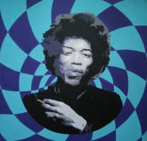Jimi Hendrix by TensionHead26