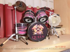 My Queen Drum Set by MadAme-DragoNess