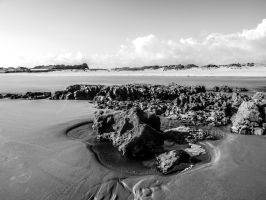 B and W View Taken Overlooking Coney Beach May 12 by welshrocker