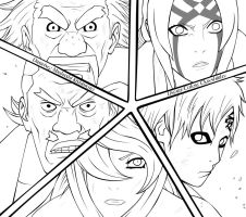 Five Kage Lineart by CkayShirley