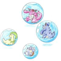 Pokemons in bubbles 2 (Request) by WesleyFKMN
