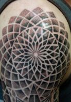 Stippled Mandala- By Sean Ambrose by seanspoison