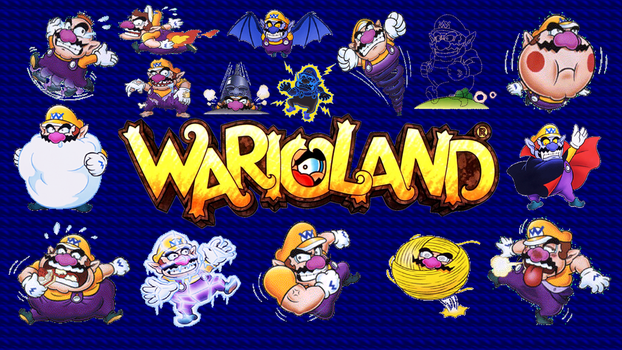 Wario Land Forms Wallpaper by happydreamer96