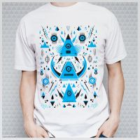 Triangle Alien Transformer Attack @threadless by mrsbadbugs