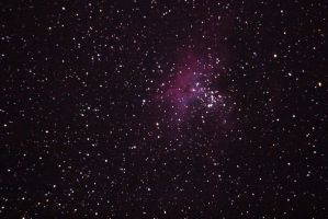 Messier 16, The Eagle Nebula at Fort Griffin by phrostie