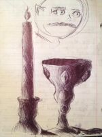 Candle and Goblet by Bubblesaurus-rex