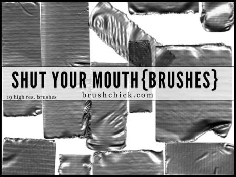 Shut Your Mouth Duct Tape Brushes by brushchick