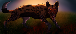 The Bloodlust (African Wild Dog Contest Entry) by Black-Tiger-of-Evil
