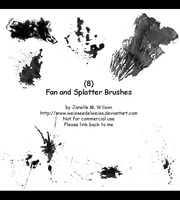 8PS Fan and Splatter Brushes 123011 by WeisseEdelweiss