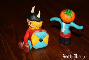 Fimo Viking and ScareCrow by VikingWidunder