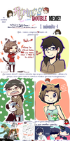 Meme doble con nathylove5 by Bananaproduction