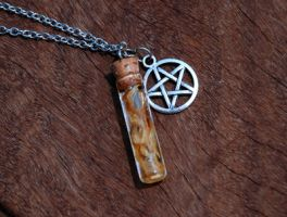 Witch's Potion Vial Pendant by kittykat01