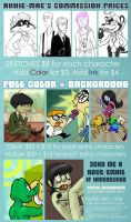 ANNIEs Commission Prices for 2013 by anniemae04