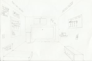 One-Point Perspective Room by GretchElise