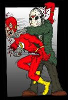 Flash VS Jason by Lordwormm