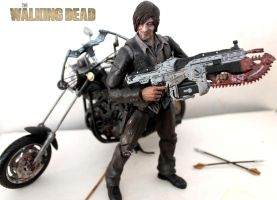 Daryl Dixon custom action figure with Motorcycle by SomethingGerman