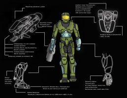 Master Chief with power suit by crashARM