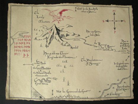 Map of the lonely mountain from hobbit by EternityArtist