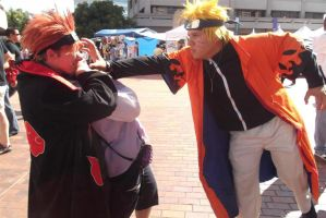Naru Saving Hinata from Pein 1 by EmoPrincess96