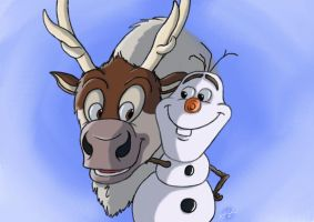 Sven and Olaf by ChirpyChickadee