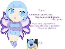 Yousei The Butterfly Chara by angelofcryinghearts