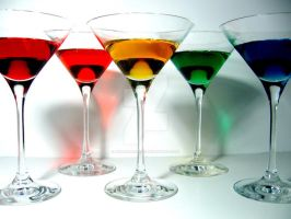 Rainbow Martinis by redheadgirl32