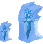 DoA- Frozen Hitomi (animated) (commission) by TODODeygulash