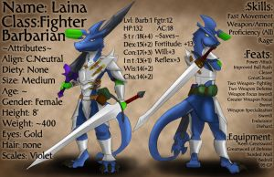 DnD Character Sheet: Laina by TheBoundlessTibex