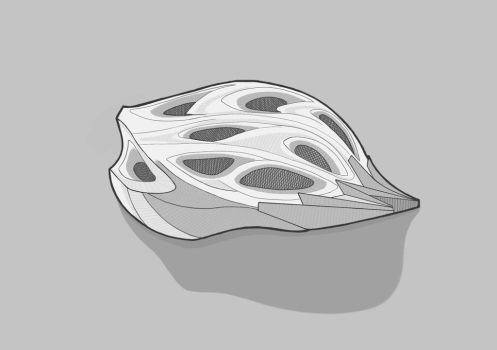 Bike Helmet by sometimeartist