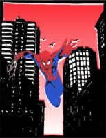 Spider-Man in in the city by DomiNYcanKnyght