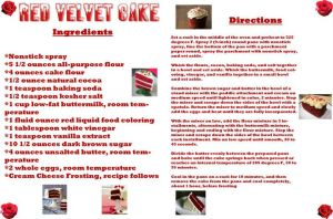 Magazine Spread Red Velvet Cake Recipe by mjb1225