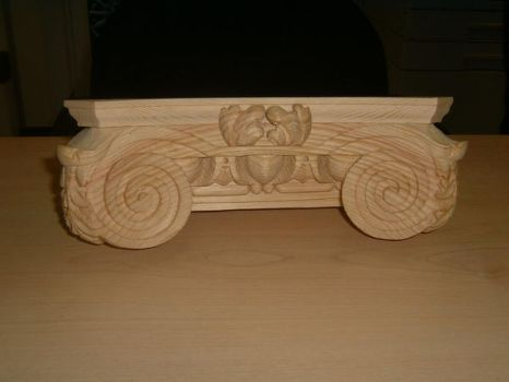 corinthian capital by timpeekwoodcarving