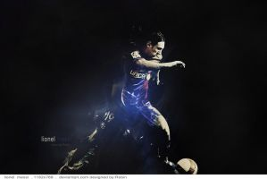 lionel messi  ..  wallpaper by desROBIN