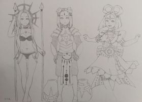 Sun Goddess Outfits by Aminoob