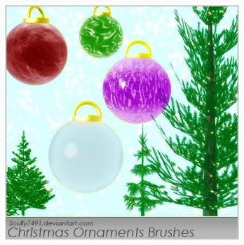 Christmas Ornament Brushes by Scully7491
