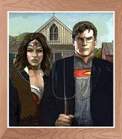 Superman and Wonder Woman - American Rebirth 52 by GabeCurly