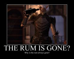 Why is the rum gone? by twixtnightandmorn
