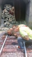 SDCC 2014 Walking Dead Booth by corysmithart