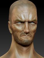 Clint Eastwood Head Zculpt by FoxHound1984