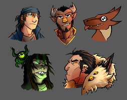 holiday gift busts by hurricane128