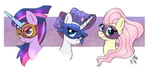 MLP FIM - Power Ponies by Joakaha