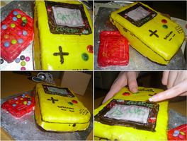 GameBoy Colour Pokemon Cake by chimera-99
