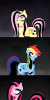 My little goth ponies by alittleofsomething
